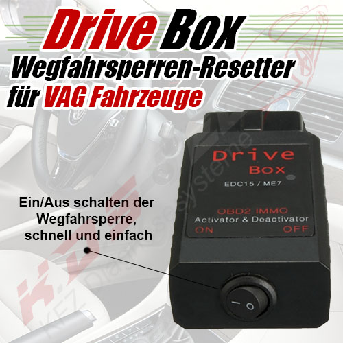 drive box wegfahrsperre immo off deaktivieren vw audi seat. Black Bedroom Furniture Sets. Home Design Ideas